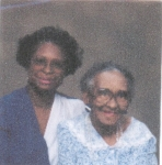 Right: Della Lee Johnson-Carr-Archie (daughter) of Sam Johnson and her (daughter) Shirley Carr-Hill